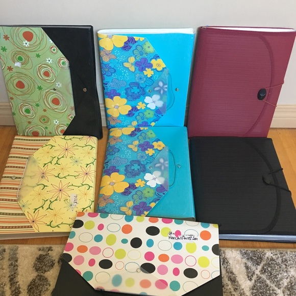 Other - 7 assorted accordion file folders